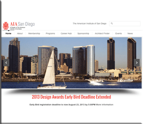 American Institute of Architecture San Diego - Wordpress Websites and Training - Sara Ohara