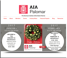 AIA Palomar - Wordpress Websites and Training - Sara Ohara