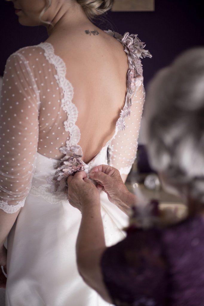El vestido de novia de Desirée   Diseñadora Sara Ostos