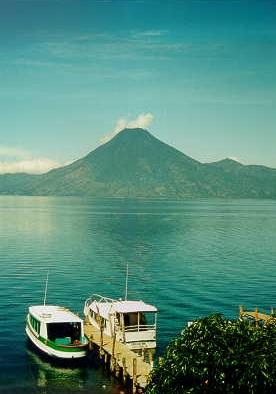 guatemala_View of Volcano at Atitlan