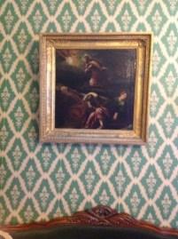 Dostoyevskilerin evindeki tablolardan biri. Diğerleri gibi bu da İncil'den bir sahne üzerine.