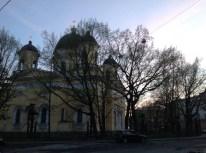 Çukovski'nin evinin önünden Tecelli Katedrali. Rusçasıyla Spaso-preobrajenskiy sobor.