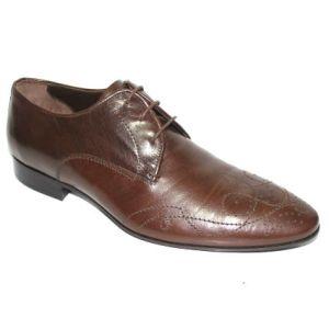 Елегантни мъжки обувки в кафяво-403590