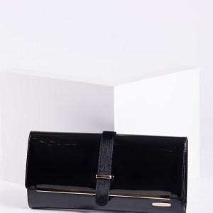 Елегантен  плик в черен цвят-725322