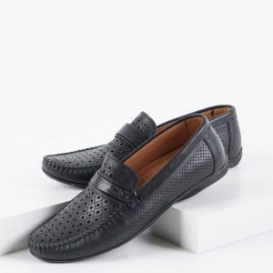 Мъжки мокасини в черен цвят-04060F4