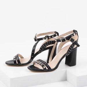 Елегантени дамски сандали в черен цвят-483104
