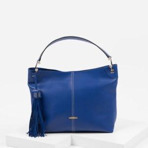 Ежедневна дамска чанта в син цвят-725169