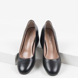 Кожени дамски обувки в черен цвят-160557