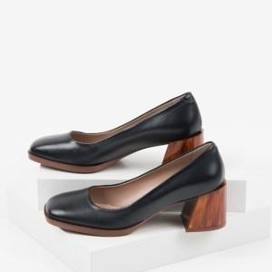 Кожени дамски обувки в черен цвят-160563