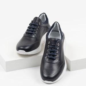 Мъжки обувки в син цвят-0430147