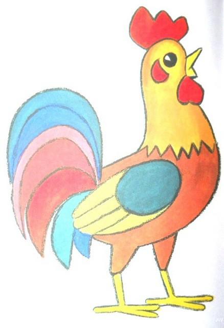 Картинки Раскраски Петушок Для Детей