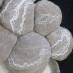 Stones with tencel decor
