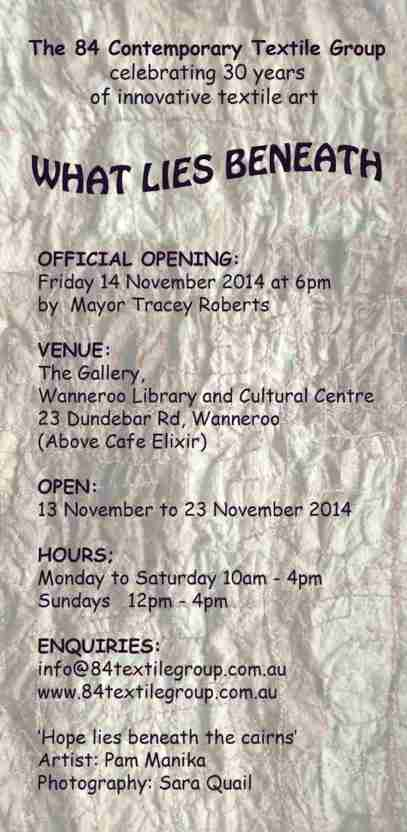 2 What lies beneath exhibition invitation 2014