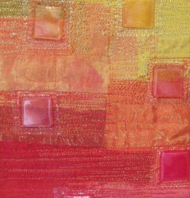 Sara quail plastic fabric collage