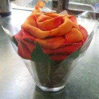 silk scarf rose