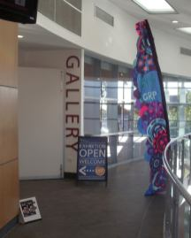 6 Our banner outside the gallery