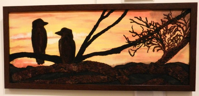 kookaburras in textiles