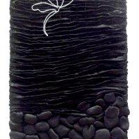 Shibori satin wire motif