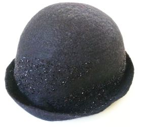 black short brim hat
