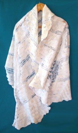 Doubly deconstructed sari nuno wrap