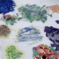 glue gun embellishments for textiles