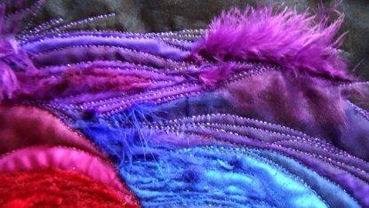sara quail rainbow burst closeup