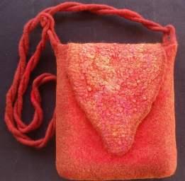 orange bag felt