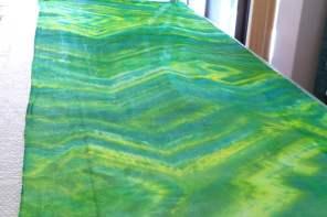 Hand dyed silk gauze