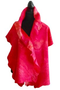 Nuno felt wrap frill one side only