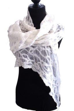 Doodle wrap silk and merino