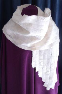 White deconstructed nuno wrap