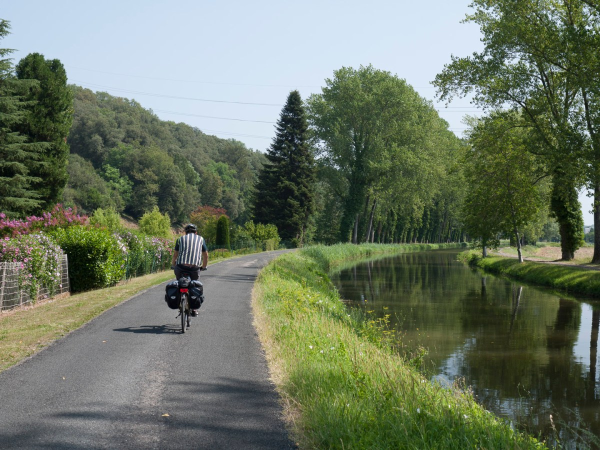 We enjoyed a short ride along this canal