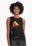 Floral Tank Tops - Tulip Flower Sleeveless top