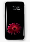 Red gerbera daisy on black background Samsung case - beautiful flower phone cases