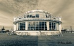 Southern pavilion at the end of Worthing pier - greeting from Sunny Worthing