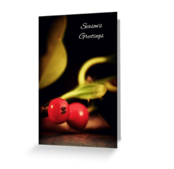 Holly Christmas Card