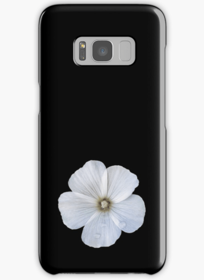 white hibiscus Samsung galaxy phone case