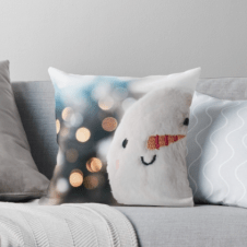Christmas snowball cushions