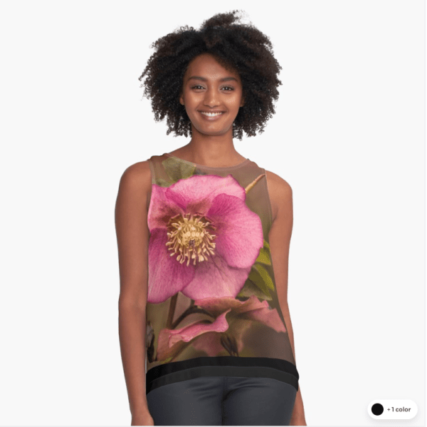 Christmas Rose Sleeveless tops