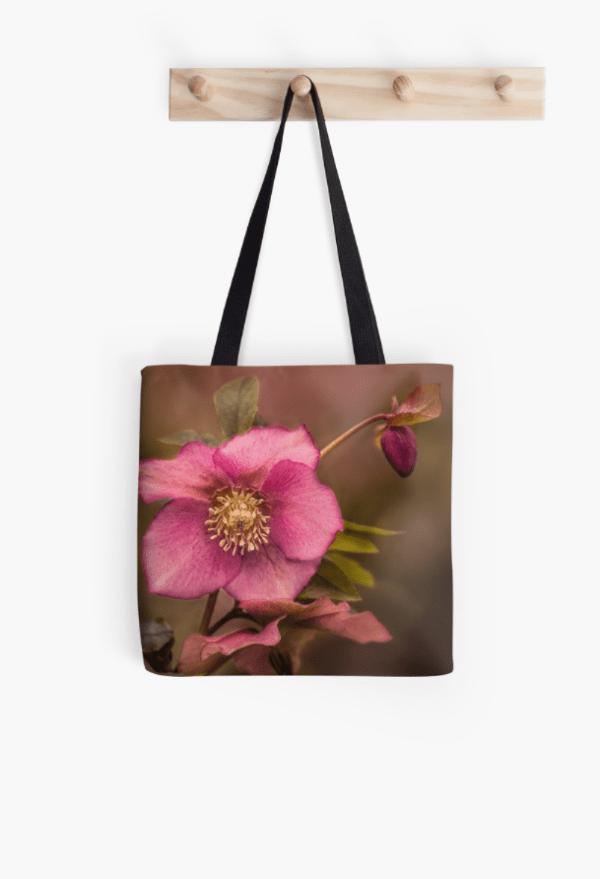 Christmas Rose Tote Bag