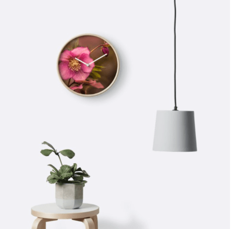 Christmas Rose Wall clock