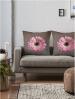 pink gerbera large cushionspink gerbera large cushions
