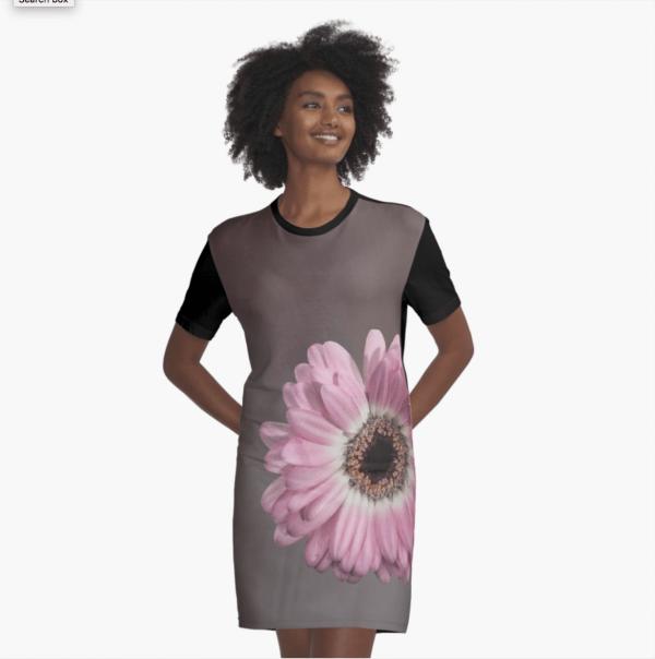 gerbera floral dress t-shirt style
