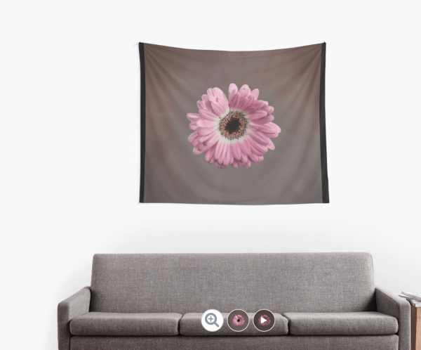 pink gerbera wall tapestry