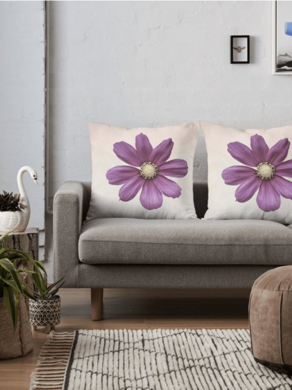 Cosmos flower cushions - large