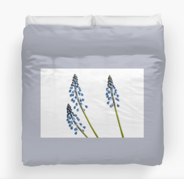Grape Hyacinth Flower Duvet cover - King size