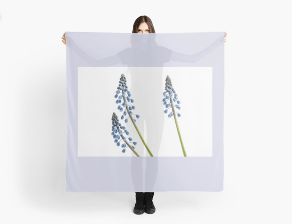 Grape hyacinth flower Scarf