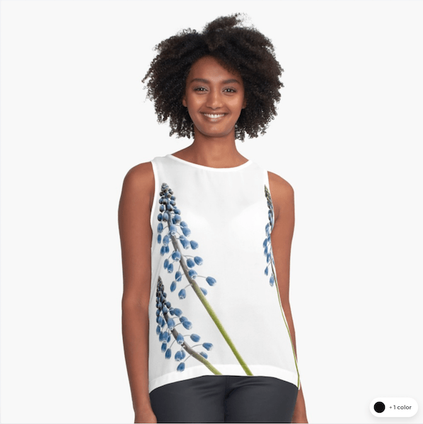 Grape Hyacinth Flower sleeveless tops