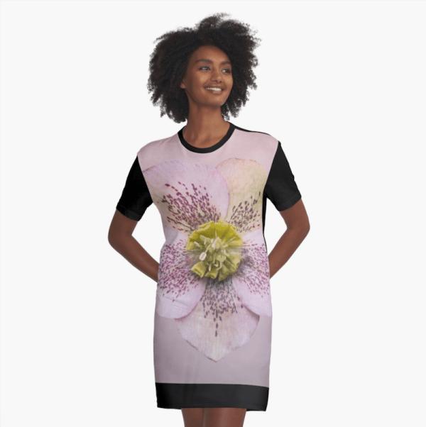 Hellebores flower dress