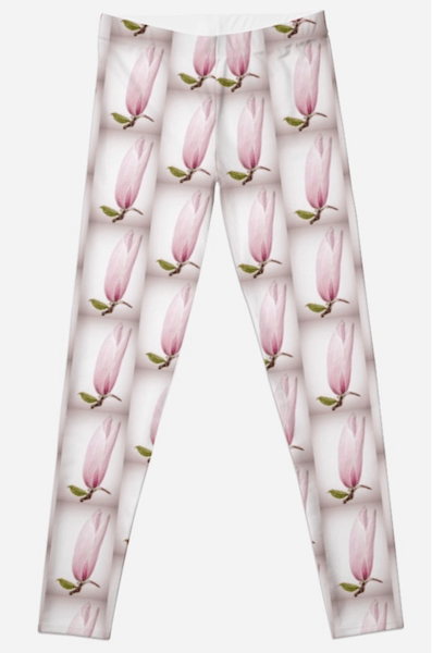 Magnolia Flower Leggings